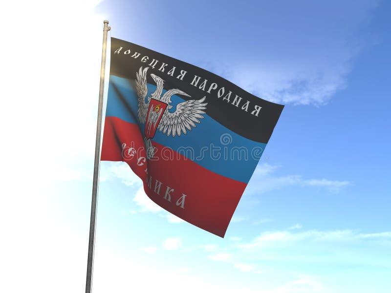 顿涅茨克共和国, DNR旗子  免版税库存图片