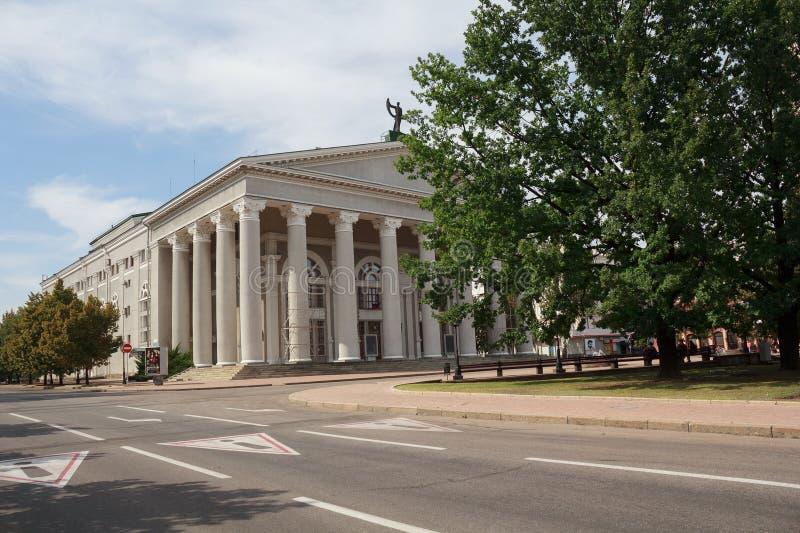 顿涅茨克,乌克兰- 2018年9月02日::在音乐和戏曲剧院的看法 库存照片