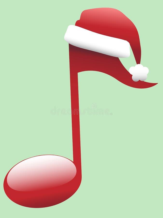 颂歌圣诞节节假日音乐音符 向量例证