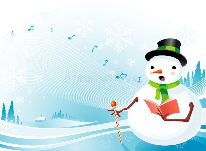 颂歌雪人的圣诞节 向量例证