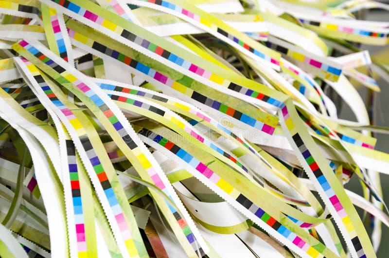 预先压制在打印生产的颜色管理 库存照片
