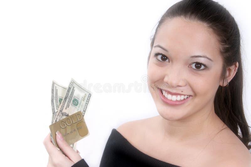 预先的现金 免版税库存照片