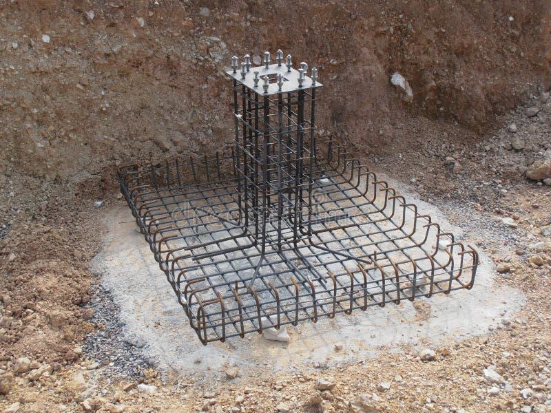 预制混凝土基础在泰国 图库摄影