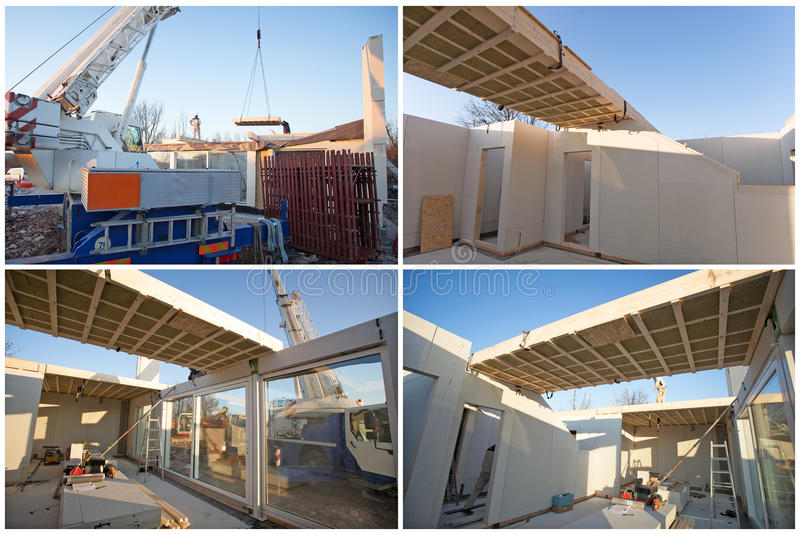 预制的房屋建设 库存照片