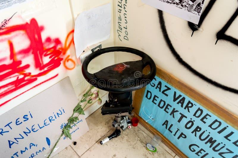 预制的警察局在塔克西姆盖齐公园在伊斯坦布尔,土耳其 库存图片