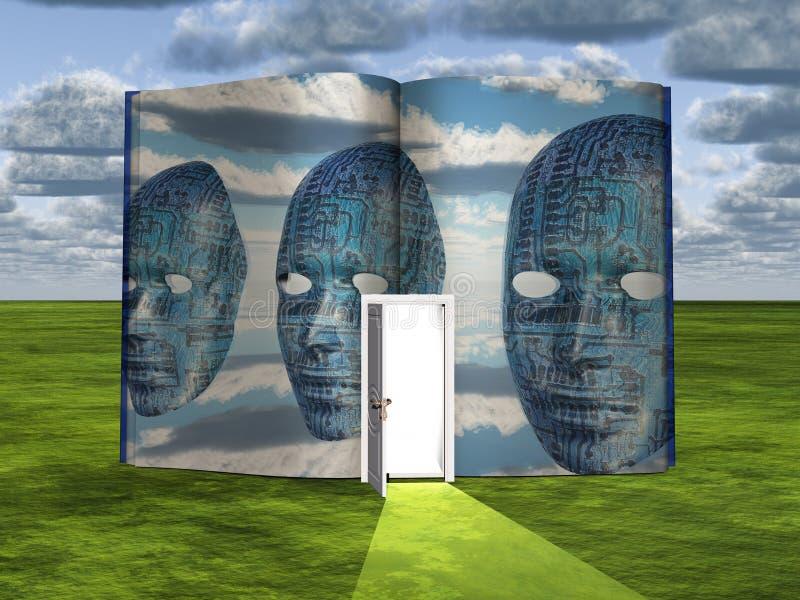 预定与科幻光场面和门道入口  皇族释放例证