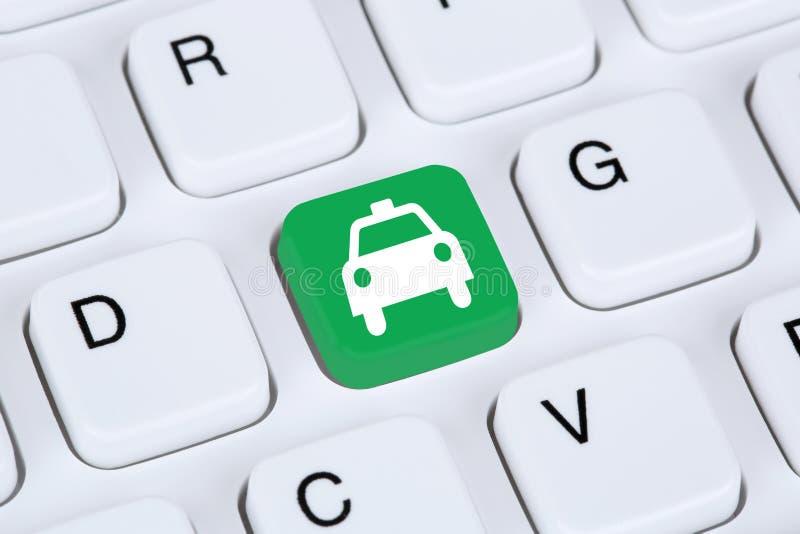 预定出租汽车或小室网上互联网售票 库存图片