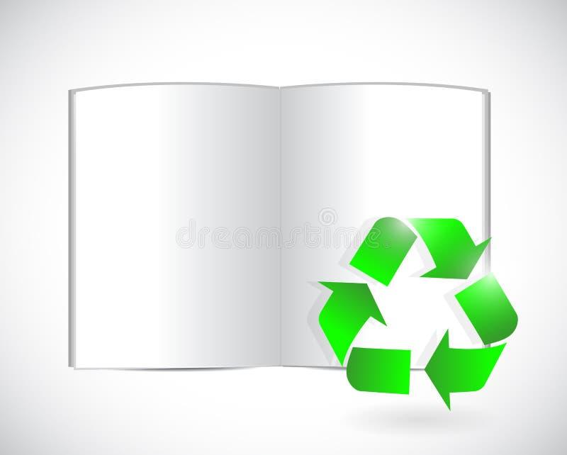 预定并且回收标志例证设计 库存例证