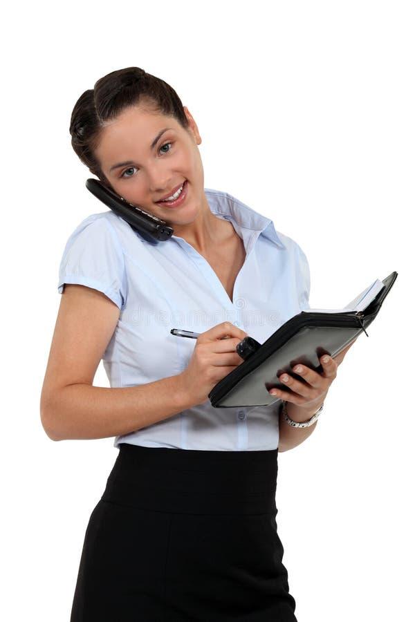 预定任命的女实业家 免版税库存照片