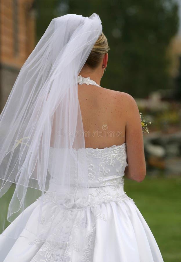 预期新娘婚礼 免版税库存照片