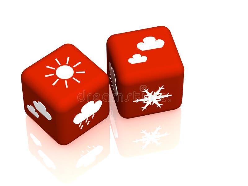 预测天气 库存例证