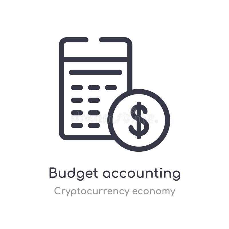 预算会计概述象 r r 皇族释放例证