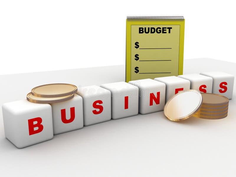 预算值商业 库存例证