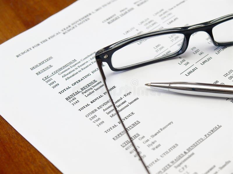 预算值文件 免版税库存照片