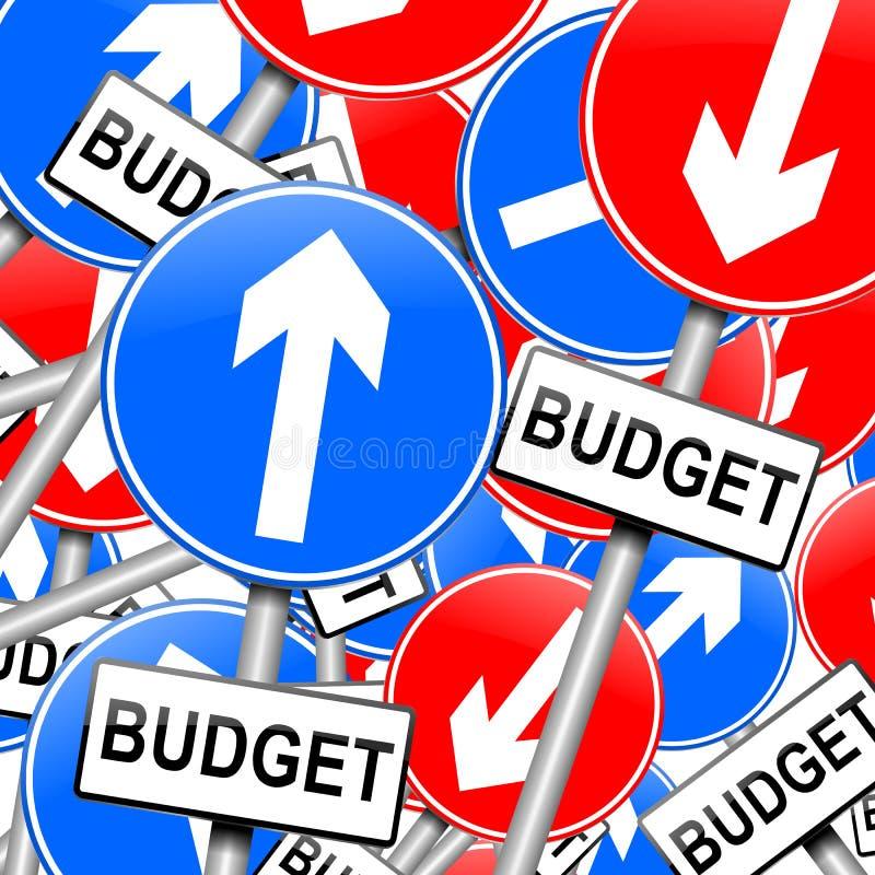预算值概念。 皇族释放例证