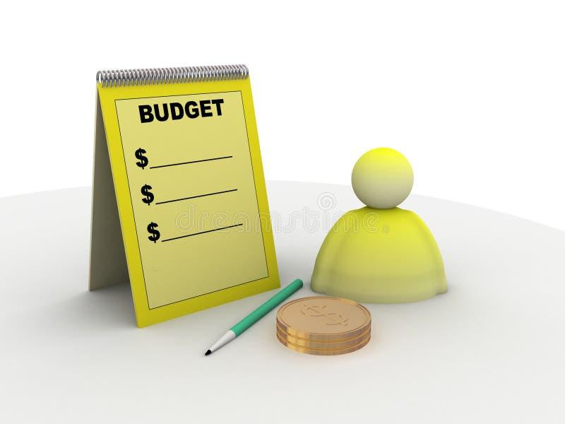 预算值符号 向量例证
