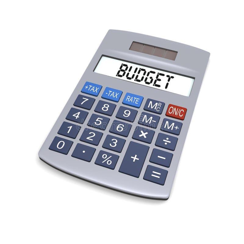 预算值计算器 库存例证