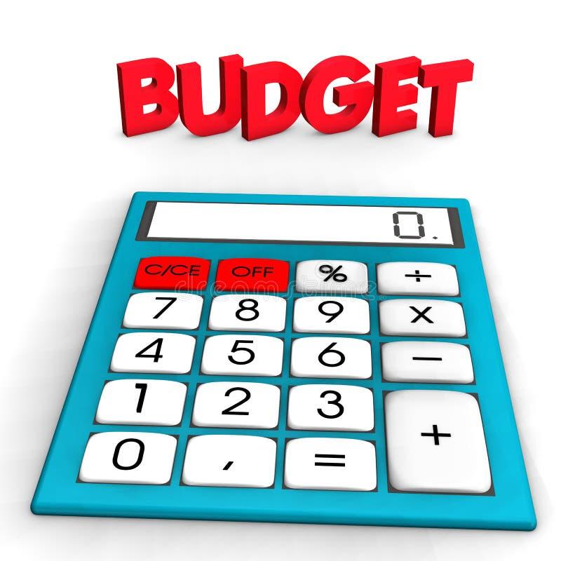 预算值计算器 皇族释放例证