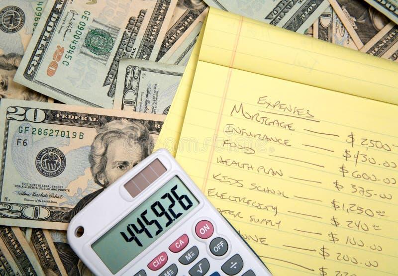 预算值计算 免版税库存照片