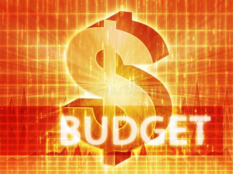 预算值财务例证 向量例证