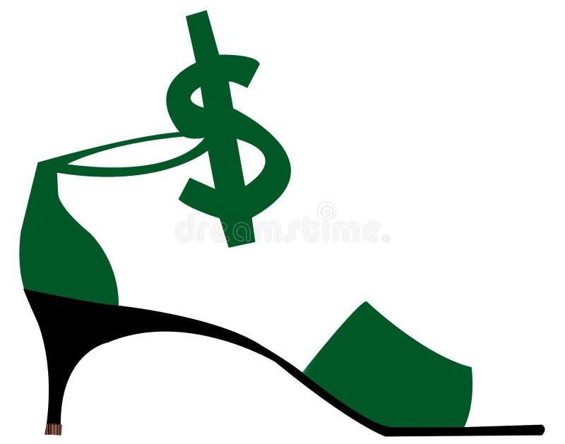预算值鞋带 向量例证