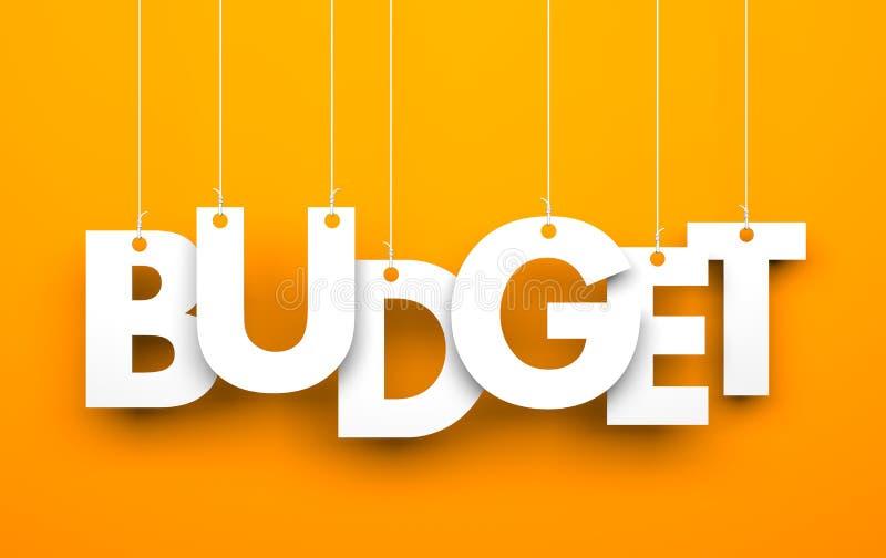 预算值 在串的词 库存例证