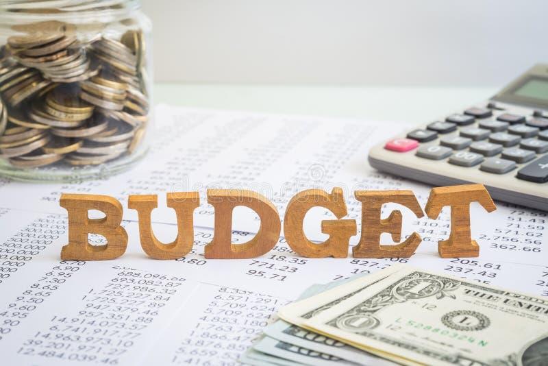 预算和财务管理企业项目的 免版税库存照片
