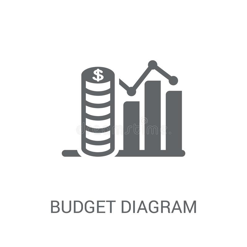 预算图象 在白色的时髦预算图商标概念 向量例证