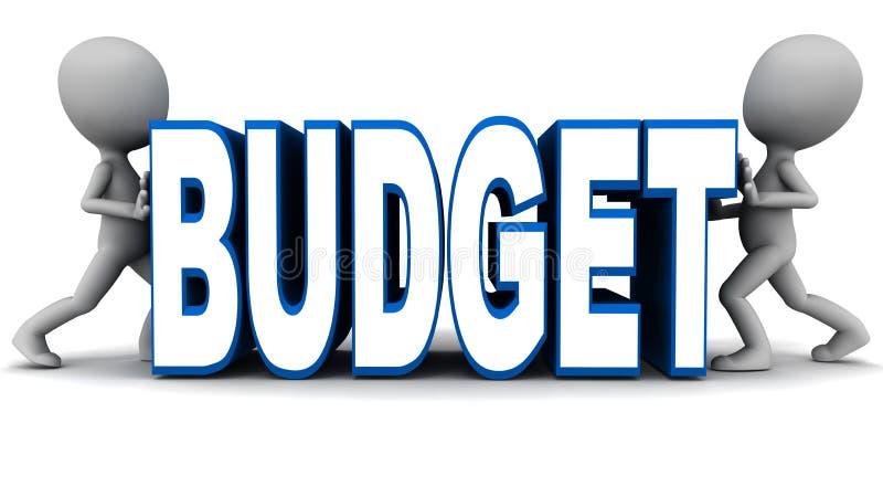 预算抽缩 向量例证