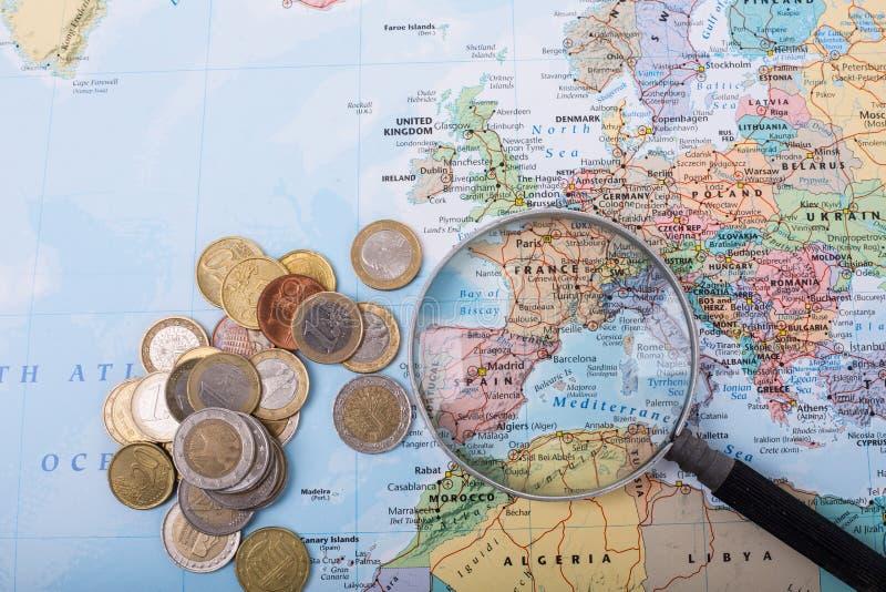 预算旅行 库存图片