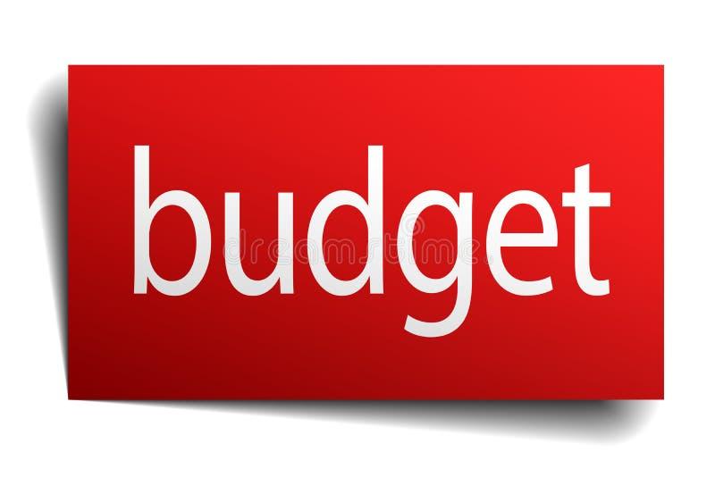预算标志 库存例证