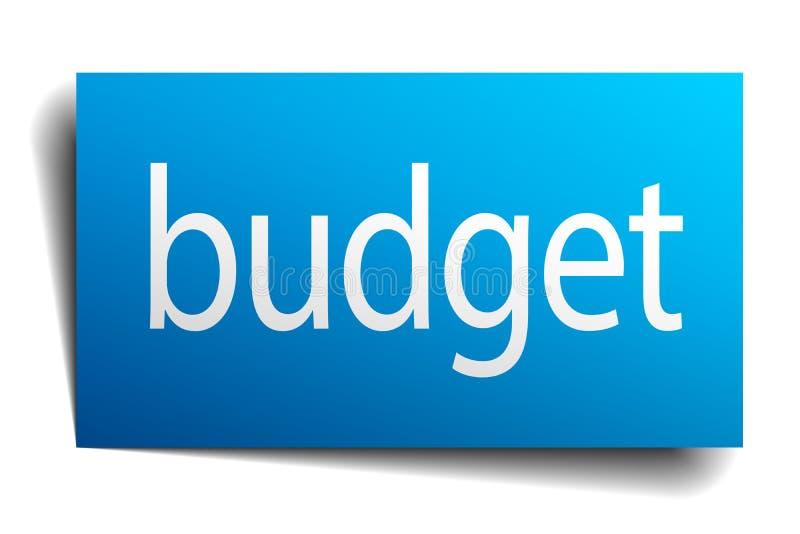 预算标志 向量例证