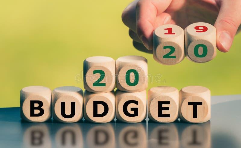 2020预算的标志 免版税库存照片