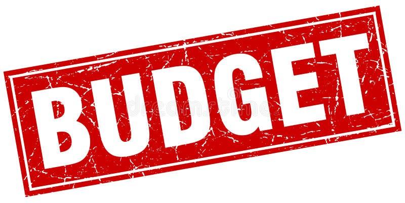 预算邮票 向量例证