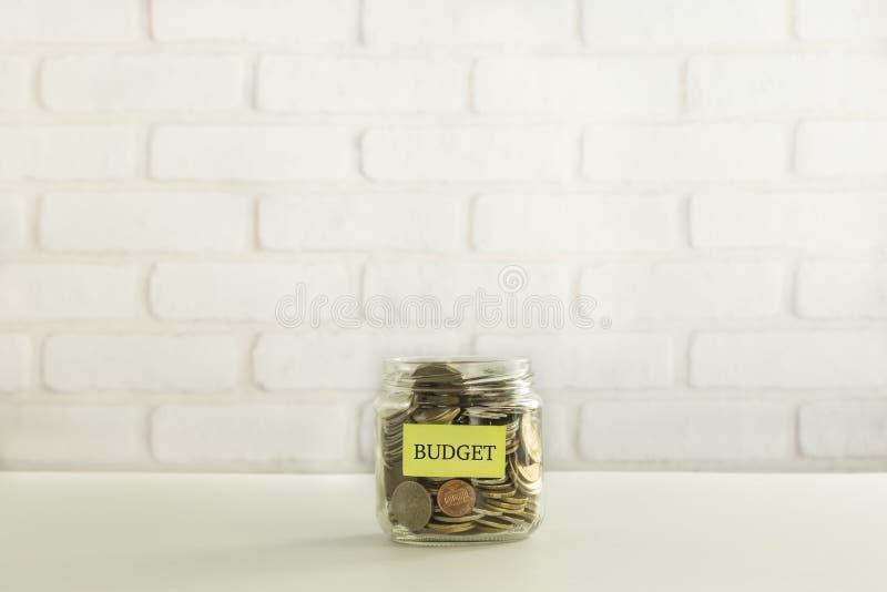 预算金额为捐赠和分享 免版税库存照片