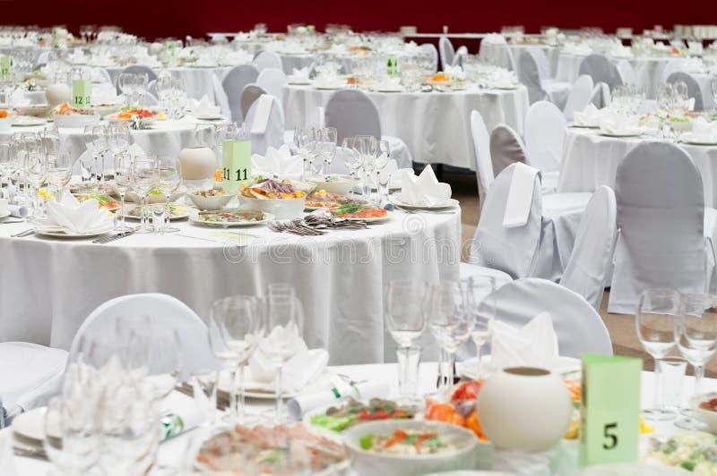 预约正餐餐馆表 免版税库存图片