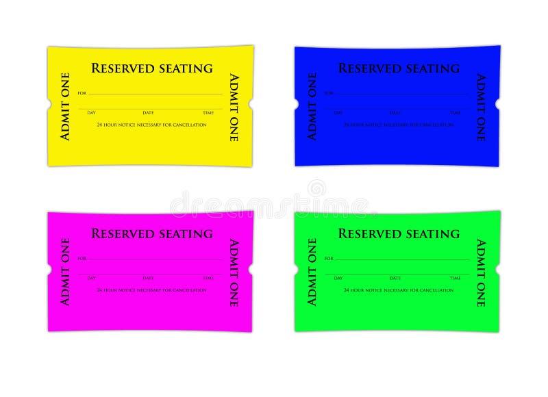 预约票 向量例证