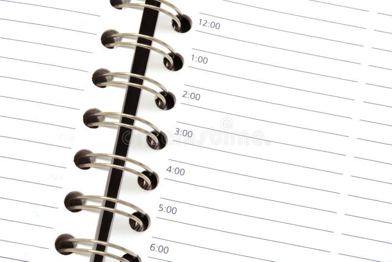 预约页 免版税库存图片