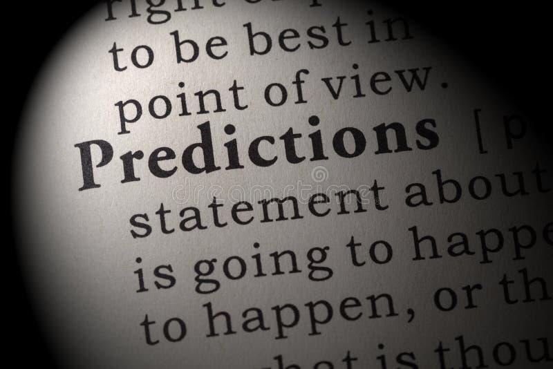 预言的定义 库存图片