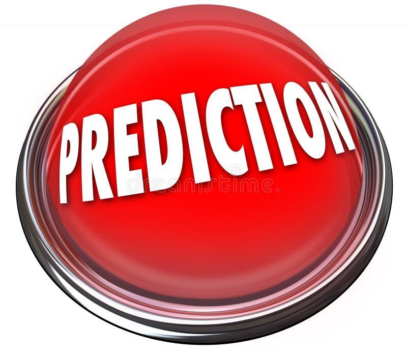预言红色3d按钮预测命运命运算命 库存例证