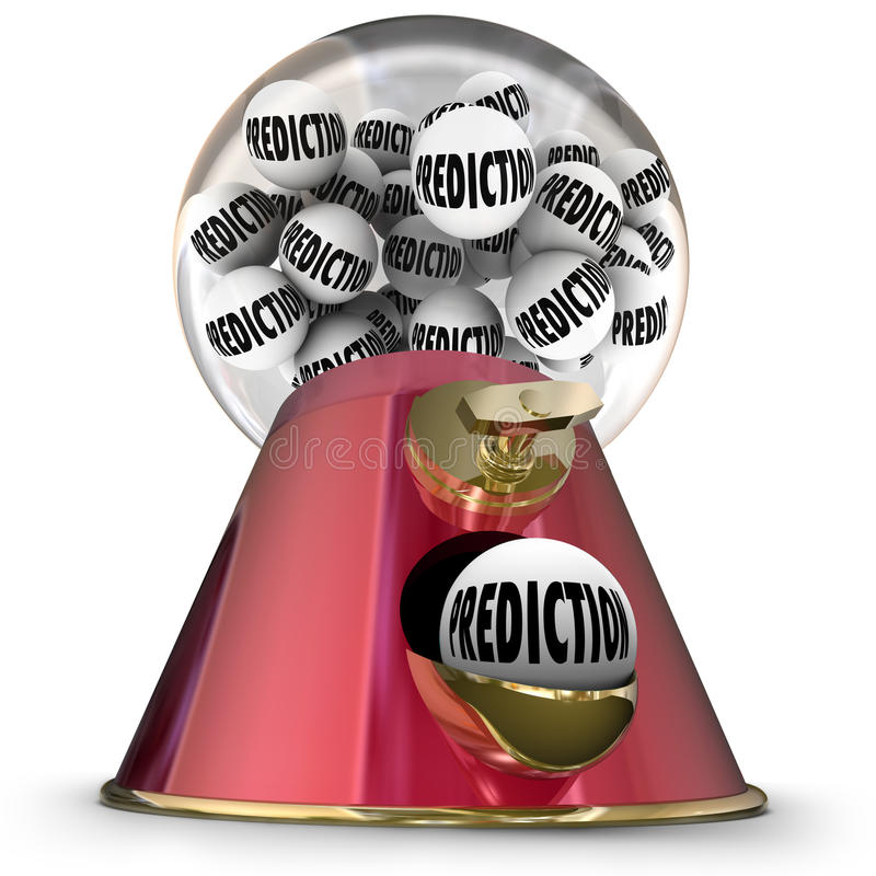预言Gumball机器预测命运命运算命者 向量例证