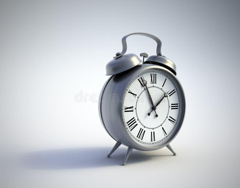 预警古典时钟 免版税库存图片