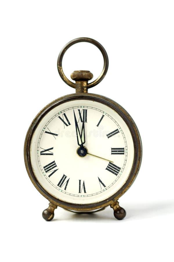 预警古色古香的时钟 库存照片