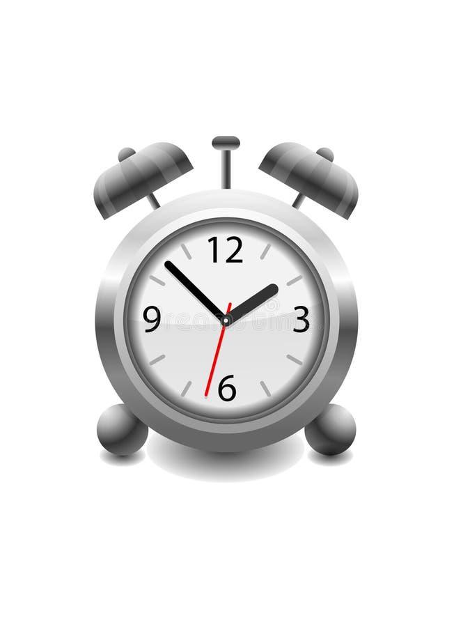 预警模式时钟例证减速火箭的向量 皇族释放例证