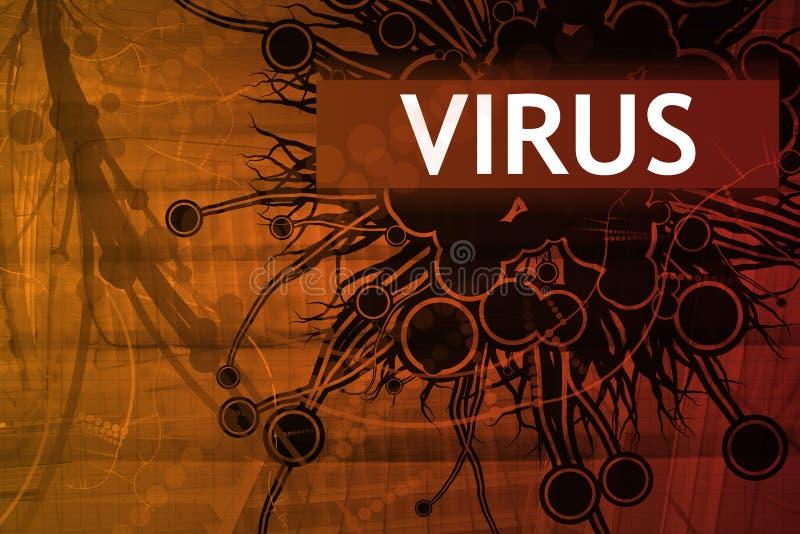 预警证券病毒 向量例证