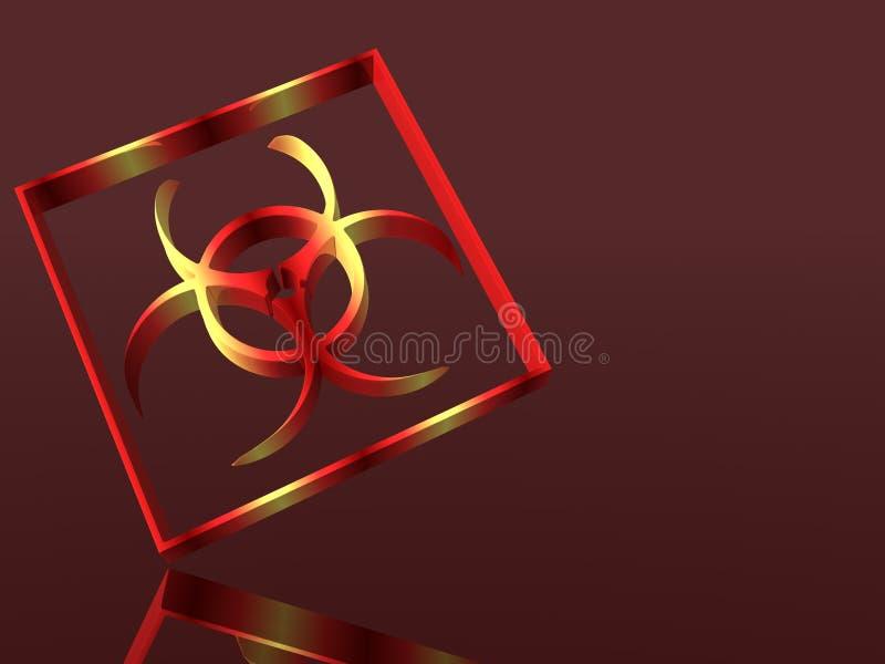预警biohazard符号 向量例证