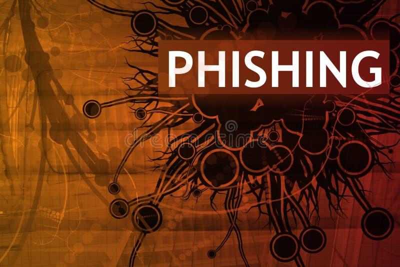 预警phishing的证券 皇族释放例证