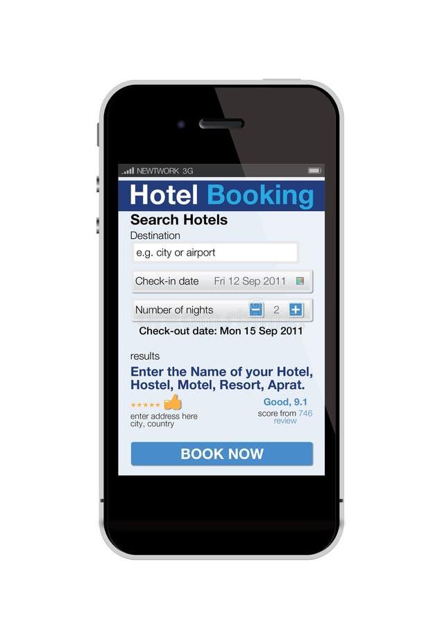 预订旅馆移动电话 皇族释放例证