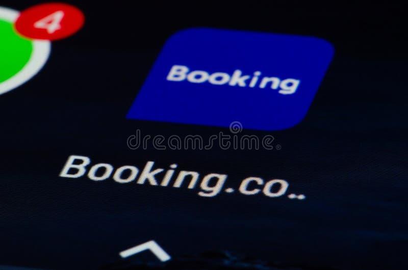 预订 com app 免版税库存图片
