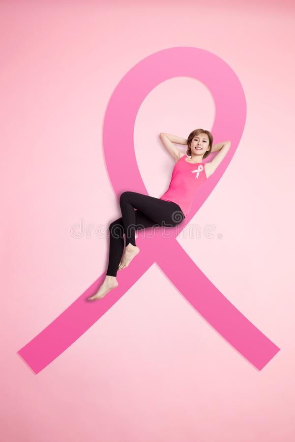 预防乳腺癌概念 图库摄影